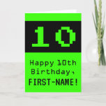"[ Thumbnail: 10th Birthday: Nerdy / Geeky Style ""10"" and Name Card ]"