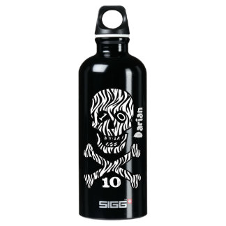 10th Birthday or Any Year Skull and Crossbones A08 Water Bottle