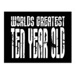 10th Birthday Parties Worlds Greatest Ten Year Old Postcard
