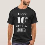 [ Thumbnail: 10th Birthday Party - Art Deco Inspired Look Shirt ]
