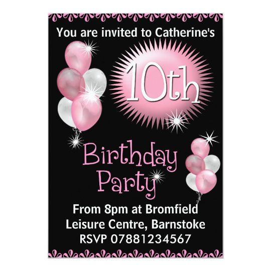 10th Birthday Party Invitation | Zazzle.com
