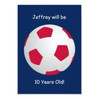 10th Birthday Party Invitation Soccer Ball