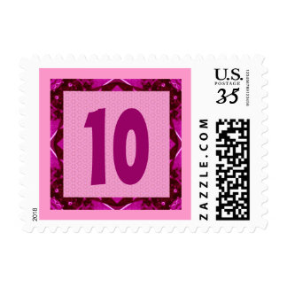 10th Birthday Pink Pattern for Girl Postage