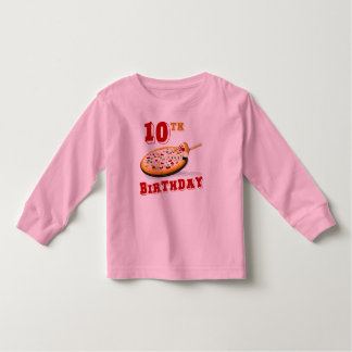 10th Birthday Pizza Party Toddler T-shirt