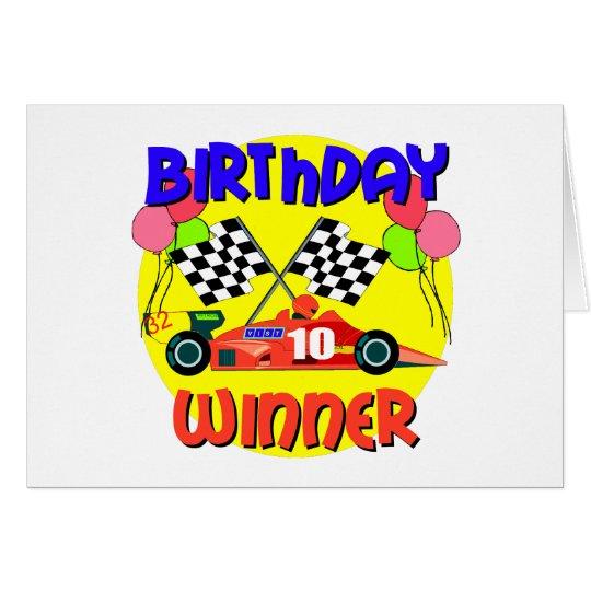 10th Birthday Race Car Birthday Card