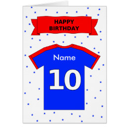 10 year old boy gifts on zazzle 10th birthday red blue t shirt add a name card bookmarktalkfo Images
