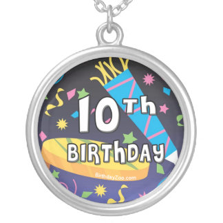 10th Birthday Silver Plated Necklace