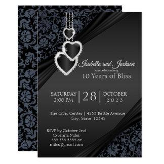 10th Black Onyx Anniversary Design Invitation