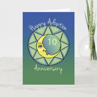 10th Gotcha Day/Adoption Anniversary Moon, Blue Card