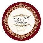 10th Happy Birthday Party Celebration Round Invite Personalized Invite