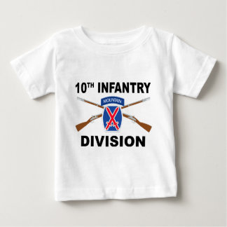 10th Infantry Division - Mountain - Crossed Rifles Baby T-Shirt