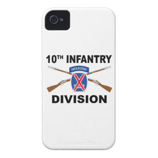 10th Infantry Division - Mountain - Crossed Rifles Case-Mate iPhone 4 Case
