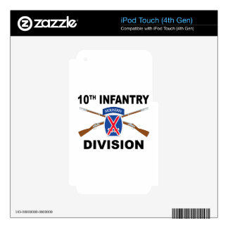 10th Infantry Division - Mountain - Crossed Rifles iPod Touch 4G Decals
