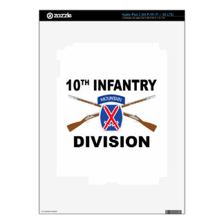 10th Infantry Division - Mountain - Crossed Rifles Decals For iPad 3