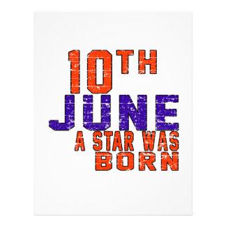 10th June a star was born Customized Letterhead