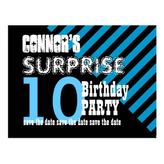 10th KIDS Surprise Birthday Save the Date T10A Postcard