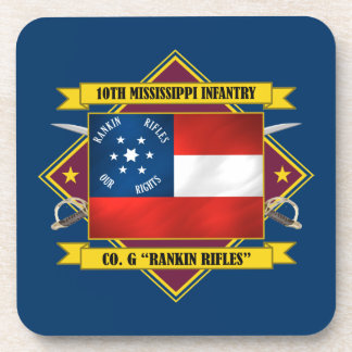 10th Mississippi Infantry Drink Coasters