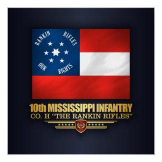 10th Mississippi Infantry Poster