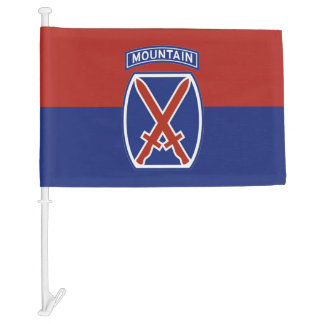 10th Mountain car flag
