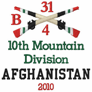 10th Mountain Div Afghanistan Crossed Rifles Shirt