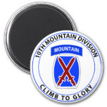 10th Mountain Division 2 Inch Round Magnet