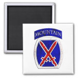 10th Mountain Division 2 Inch Square Magnet
