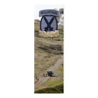 10th Mountain Division Afghanistan Bookmarkers Mini Business Card