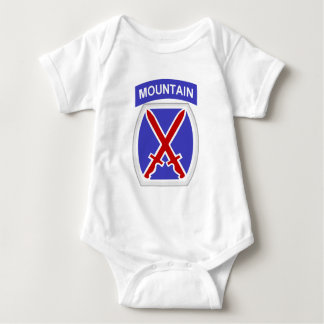 10th Mountain Division Baby Bodysuit