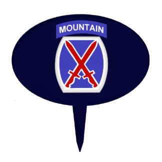 10th Mountain Division Cake Topper