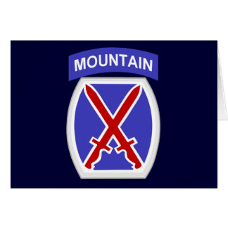 10th Mountain Division Card