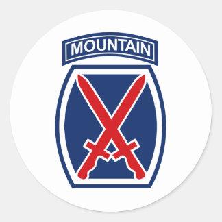 10th Mountain Division Classic Round Sticker