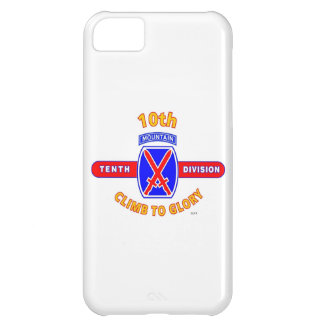"""10TH MOUNTAIN DIVISION """"CLIMB TO GLORY"""" COVER FOR iPhone 5C"""