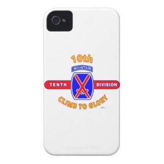 """10TH MOUNTAIN DIVISION """"CLIMB TO GLORY"""" iPhone 4 CASES"""