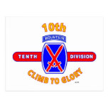"10TH MOUNTAIN DIVISION ""CLIMB TO GLORY"" POSTCARD"
