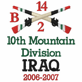10th Mountain Division Crossed Rifles Shirt