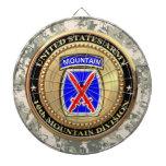 10th Mountain Division Dart Board