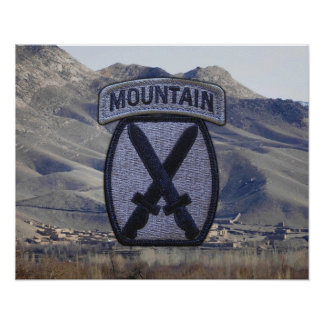 10th Mountain Division Fort Drum Patch Poster