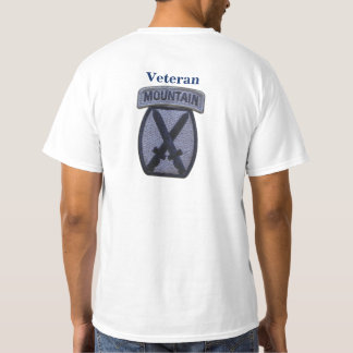 10th mountain division Fort Drum veterans vets T-Shirt