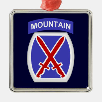 10th Mountain Division Metal Ornament