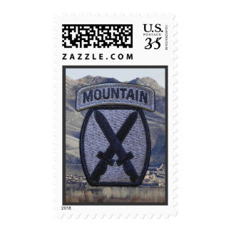 10th Mountain Division Patch Postage Stamp