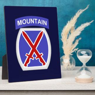 10th Mountain Division Plaque
