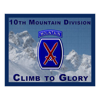 10th Mountain Division Poster