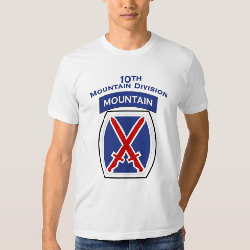 10th Mountain Division shoulder patch T-shirt