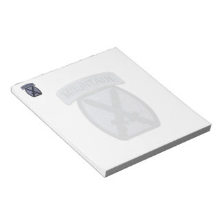 10th mountain division veterans vets patch notepad