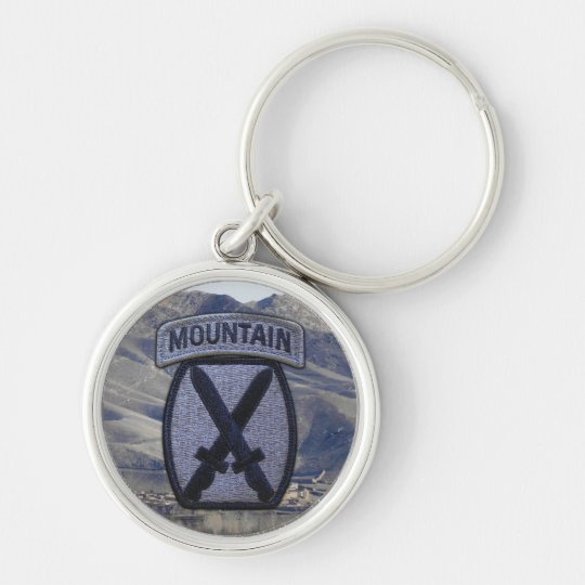 10th Mountain Division Vets Patch Keychain