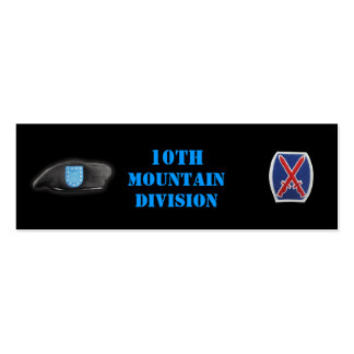10th mountain veterans vets son mom bookmarkers mini business card