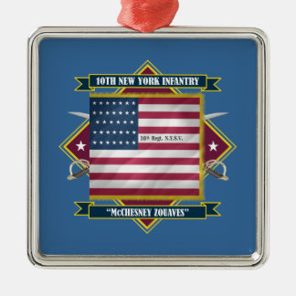 10th New York Infantry Metal Ornament