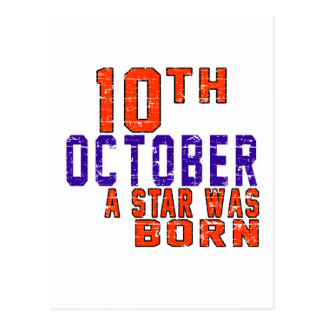 10th October a star was born Postcard