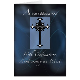 10th Ordination Anniversary of Priest Card