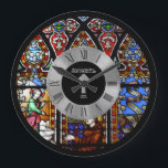 """10th Ordination Anniversary Stained Glass Custom Large Clock<br><div class=""""desc"""">This item is one of many featured in a collection of gifts for members of the Clergy including Priest, Nun, Pastor, Deacon, Bishop and more. They are for a variety of occasions include newly ordained, ordination anniversary, thank you, birthday, Christmas and more. Ma____________________________________________________________________________ 1. For assistance, custom design or matching...</div>"""